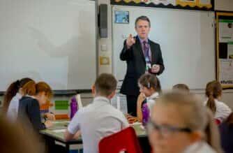 John Howe, headteacher of Seaburn Dene Primary School. Photo: David Wood