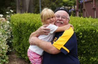 Granddads and granddaughters across the region will be looking forward to reuniting once lockdown rules are relaxed.