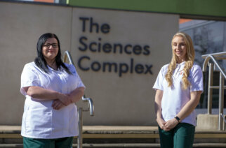 Occupational Therapy students Emma Taylor and Courtney Pratt from University of Sunderland. Photo: David Wood