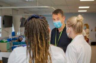 Student nurses return to studies at Sunderland University's Helen McArdle House. Photo: David Wood