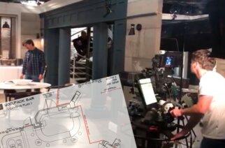 Emmerdale set / floor plan Credit ITV Calendar and Ian Bevitt)