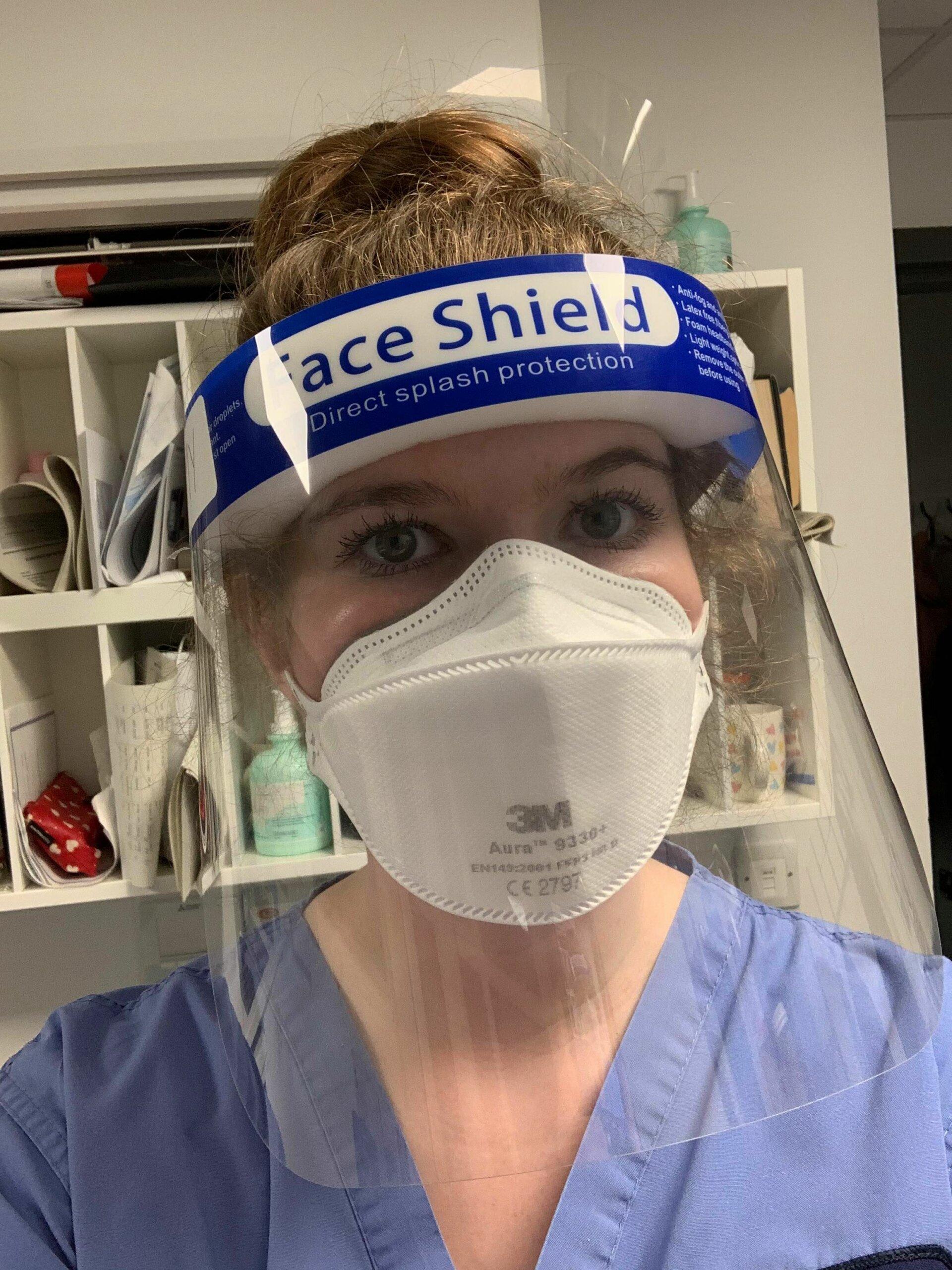Nurse Amy Mansfield in PPE