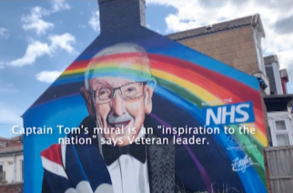 """Captain Tom's mural is an """"inspiration to the nation"""" says Veteran leader"""