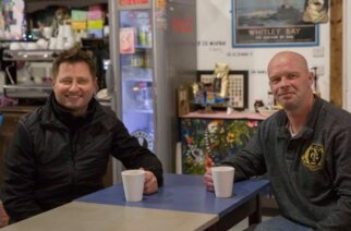 George Clarke from TV's Amazing Buildings heard of Earl's journey and they met at North East Homeless