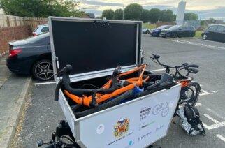 E-Cargo Bikes help North Tyneside business deliver 40 helmets to school children
